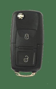 traditional 2 button vw style flip key