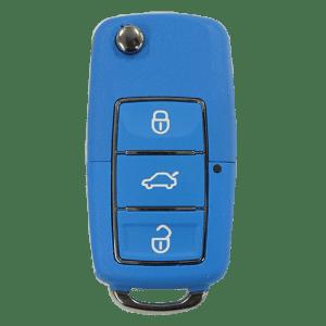 vw style blue flip key